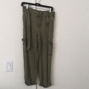 Free People army green cargo pant